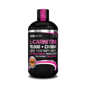 L-carnitine 70000 mg + Chrome Liquid 500 ml bottle orange