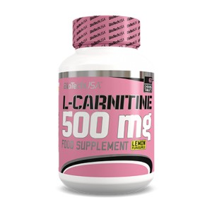 L-Carnitine 500 mg Lemon 60 chewing tablets jar