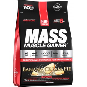 Mass Muscle Gainer Banana Cream Pie 10.16 lb/4.6 kg