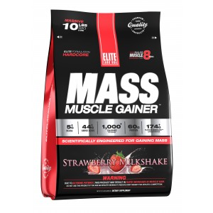 Mass Muscle Gainer Strawberry Milkshake 10.16 lb/4.6 kg