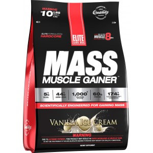 Mass Muscle Gainer Vanilla Ice cream 10.16 lb/4.6 kg