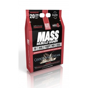 Mass Muscle Gainer Cookies and Cream 20 lb/9.7 kg