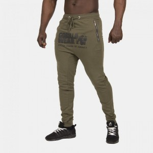 Alabama Drop Crotch Joggers Army Green L