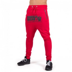 Alabama Drop Crotch Joggers Red     S