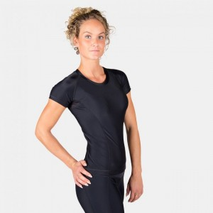 Carlin Compression Short Sleeve Top Black/Black L