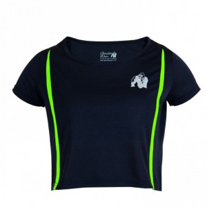 Columbia Crop Top Black/Neon Lime   M