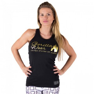 Florence Tank Top Black/Gold    L