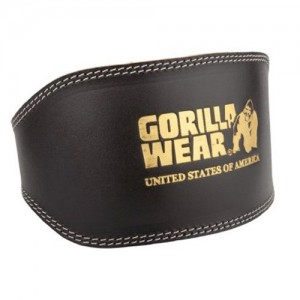 Full Leather Padded Belt Black  S/M