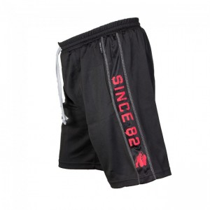 Functional Mesh Shorts Black/Red  2XL/3XL