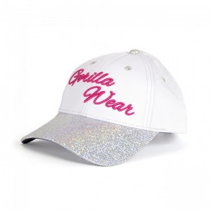 Louisiana Glitter Cap White/Pink