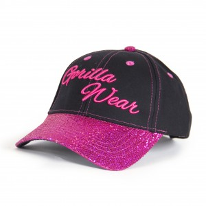 Louisiana Glitter Cap Black/Pink