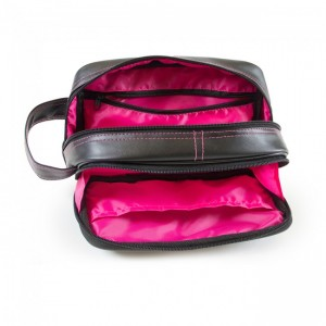 Toiletry Bag - Black/pink