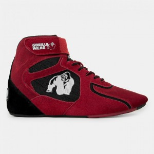 Chicago High Tops - Red/Black 37