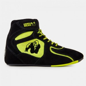 Chicago High Tops - Black/Neon Lime 45