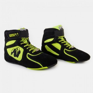 Chicago High Tops - Black/Neon Lime 36