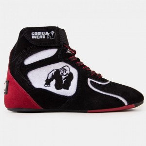Chicago High Tops - Black/White/Red 40