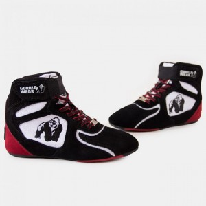 Chicago High Tops - Black/White/Red 38