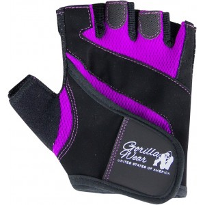 Women's Fitness Gloves Black/Purple L
