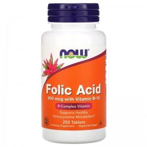 Folic Acid 800 мкг with Vitamin B-12 250 таб