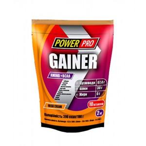 Гейнер 2000 гр з протеїном зі смаком іриш-крем