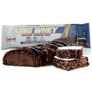 King Whey Protein Crunch Bar Triple Chocolate Brownie 57g