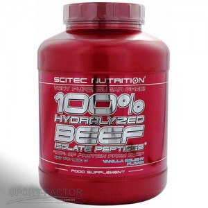 100% Hydro. Beef Peptid. 1800 g strawberry